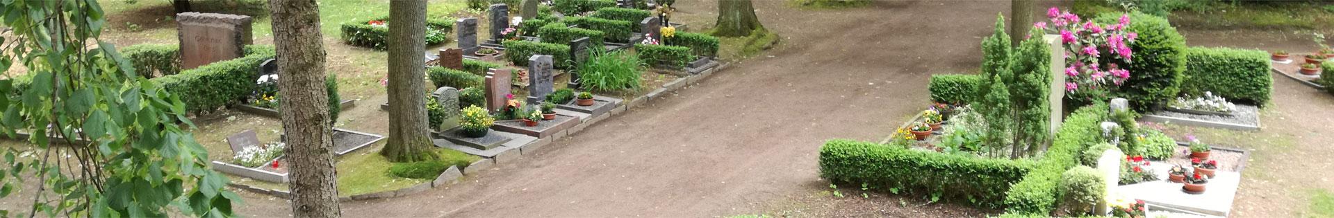 Friedhof Hartha - Grabarten